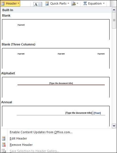 MS Word How to insert header and footer in ms word 2