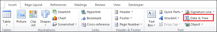 How to insert a header and footer in Microsoft Word document