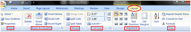 MS Word How to modify table 2