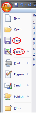 MS Word How to save the document in ms word 1