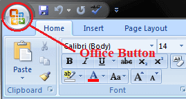 MS Word Microsoft office button 1
