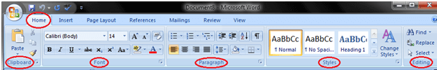 MS Word Ribbon and tags 2