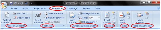 MS Word Ribbon and tags 5