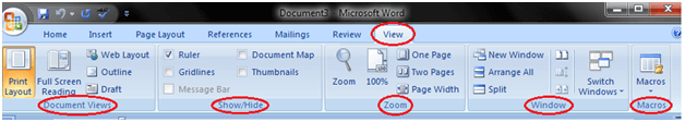 MS Word Ribbon and tags 8