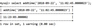 MySQL ADDTIME() Function