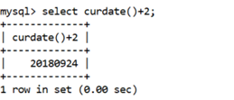 MySQL CURDATE() Function