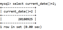 MySQL CURRENT_DATE() Function