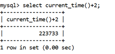 MySQL CURRENT_TIME() Function