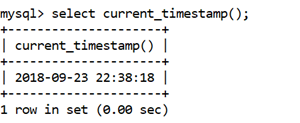 MySQL CURRENT_TIMESTAMP() Function