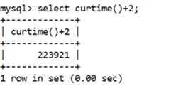 MySQL CURTIME() Function