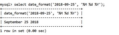 MySQL DATE_FORMAT() Function