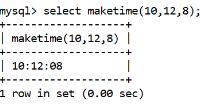 MySQL Datetime maketime() Function