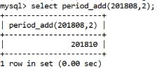 MySQL Datetime period_add() Function