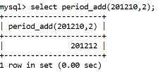 MySQL Datetime period_add() Function