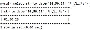 MySQL Datetime str_to_date() Function