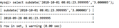 MySQL Subtime() Function