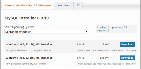 how to install mysql