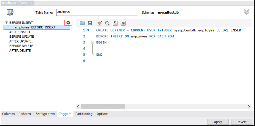 MySQL BEFORE INSERT TRIGGER