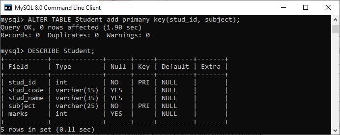 MySQL Composite Key