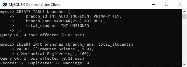 MySQL INT