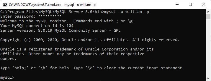 MySQL Login with Different User Account