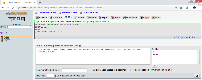 MySQL Trigger