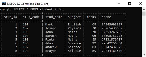 MySQL Programming Literals