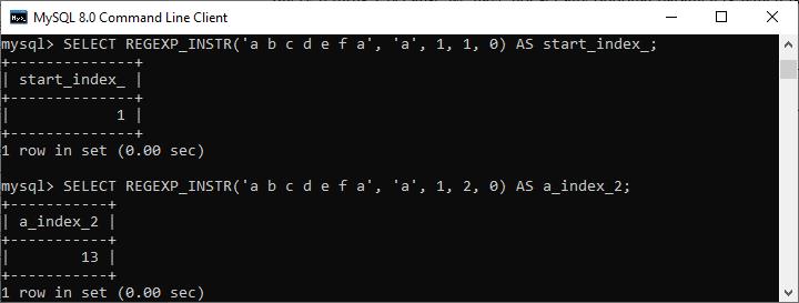 MySQL Regular Expressions
