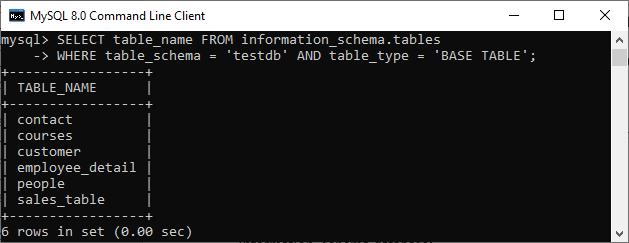 MySQL ROW COUNT