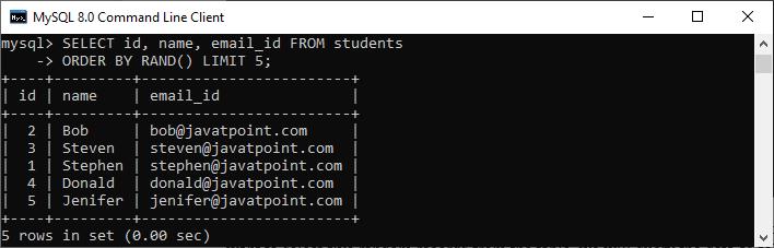 MySQL Select Random Records