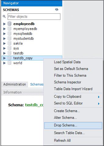 MySQL DROP Database