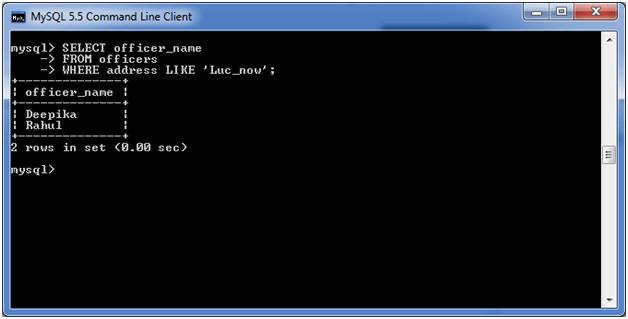 MySQL LIKE Condition 3