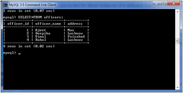 MySQL LIKE Condition 4