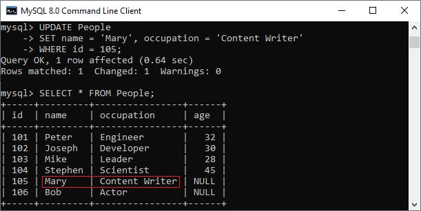 MySQL UPDATE Query