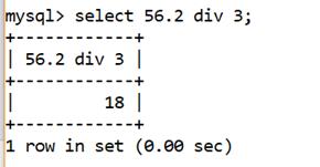 MySQL Math DIV() Function