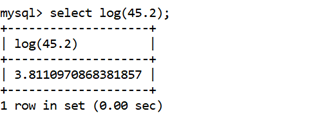 MySQL Math LOG() Function