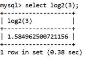 MySQL Math LOG2() Function