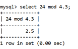 MySQL Math MOD() Function