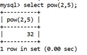 MySQL Math POW() Function