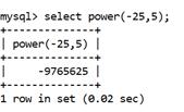 MySQL Math POWER() Function