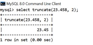 MySQL Math TRUNCATE() Function