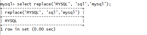 MySQL String REPLACE() Function