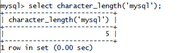 MySQL String CHARACTER_LENGTH() Function