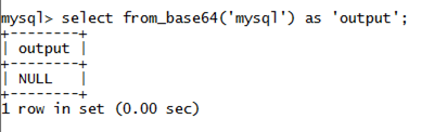 MySQL String FROM_BASE64() Function
