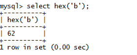 MySQL String HEX() Function
