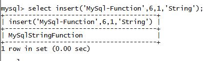 MySQL String INSERT() Function