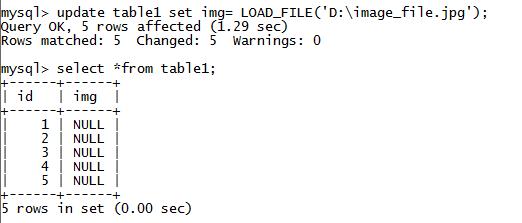 MySQL String LOAD_FILE() Function