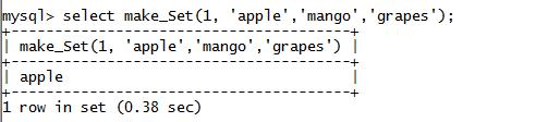 MySQL String MAKE_SET() Function