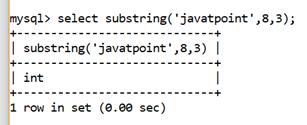 MySQL String SUBSTRING() Function