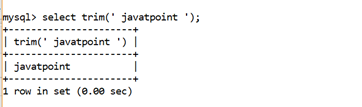 MySQL String Trim() Function